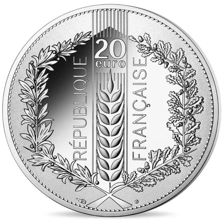 20 euro argent BE 2020 – Chêne Monnaie de Paris