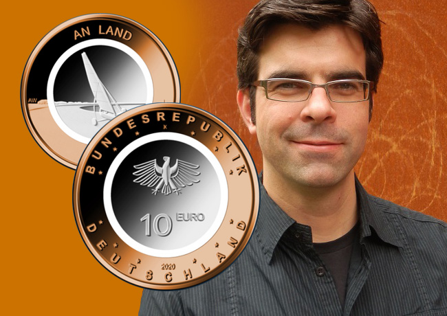 ANDRE WITTING, coin designer of german €10 polymer coins series