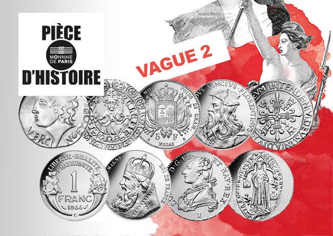 Pièce d'histoire avec Stéphane Bern – vague 2 – Monnaie de Paris 2019