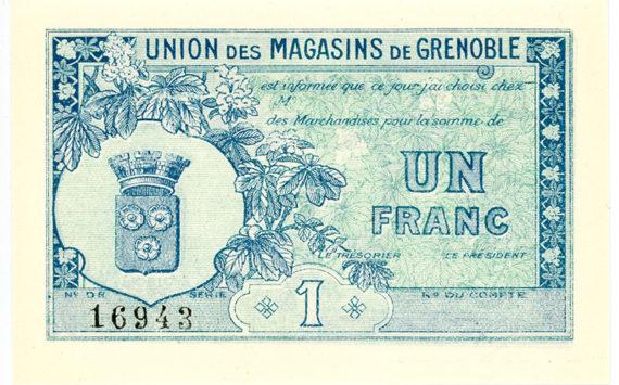 Rhône Alpes – Les bons de l'Union des Magasins de Grenoble – Catalogue et cotation