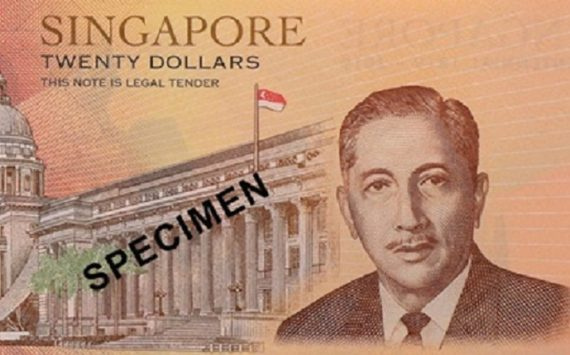 2019 Singapore 20 dollars commemorative banknote – Singapore Bicentennial