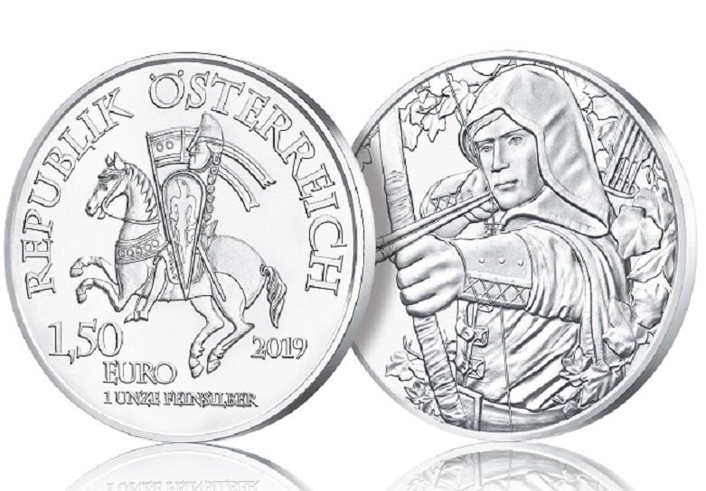 1.5 euro en argent 2019 – Robin des Bois de la Monnaie d'Autriche