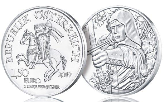 2019 Silver €1.5 coin – Robin HOOD, from Austrian Mint