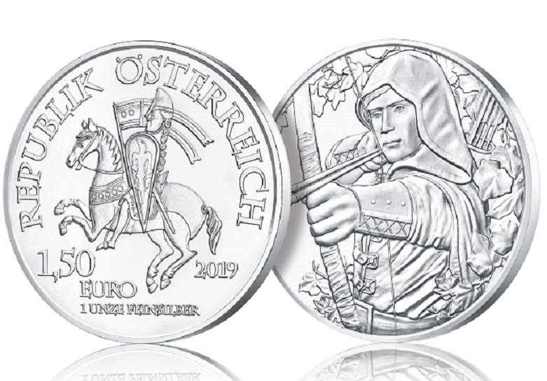2019 Silver €1.5 coin – Robin HOOD, from Austrian Mint