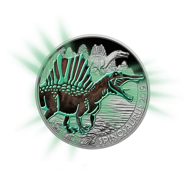 2019 Austrian Supersaurs €3 coins series: the Spinosaurus Aegyptus