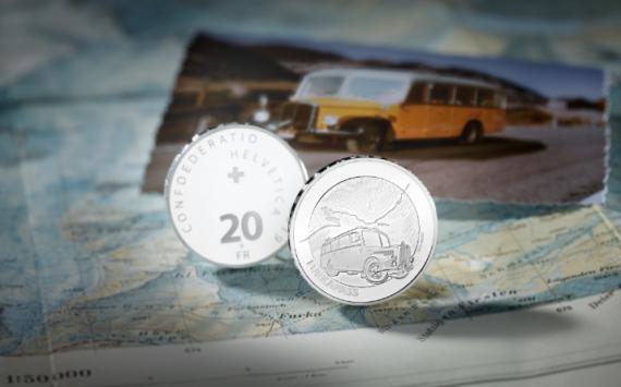 20 francs suisse 2019 en argent – COL de FURKA (FURKA PASS)