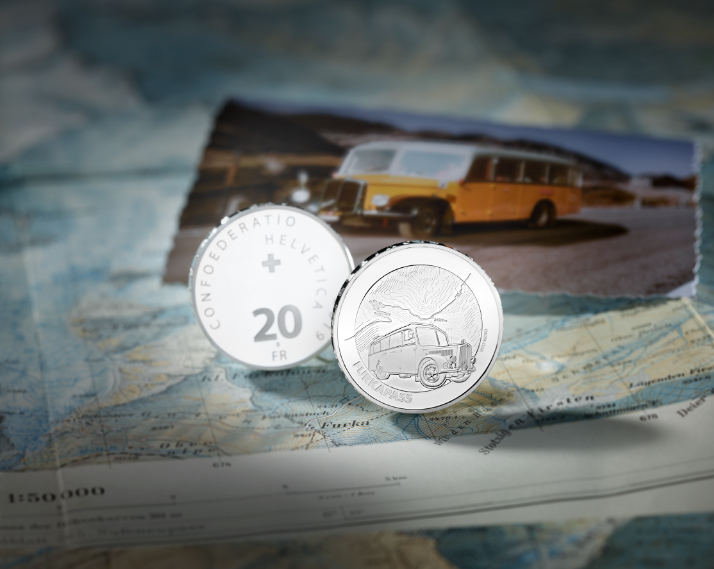 2019 20 francs Swiss silver commemorative coin – FURKA PASS