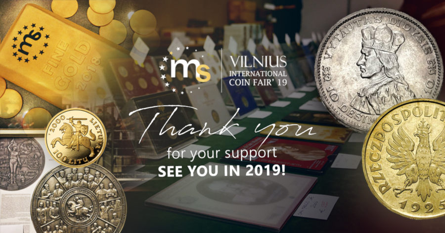 Vilnius International Coin Fair: see you on November 16th and 17th 2019