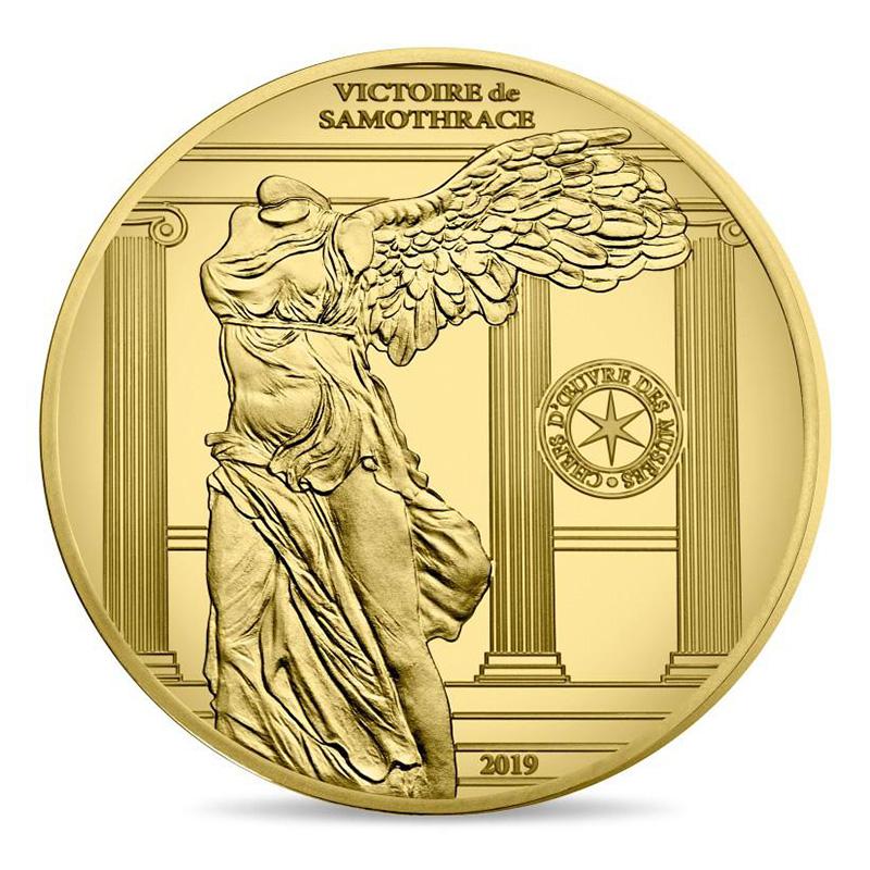 10€ ARGENT et 50€ OR Victoire de Samothrace 2019 - Monnaie de Paris