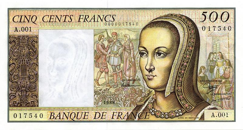 500F RenaissanceAnne de Bretagnetype 1986