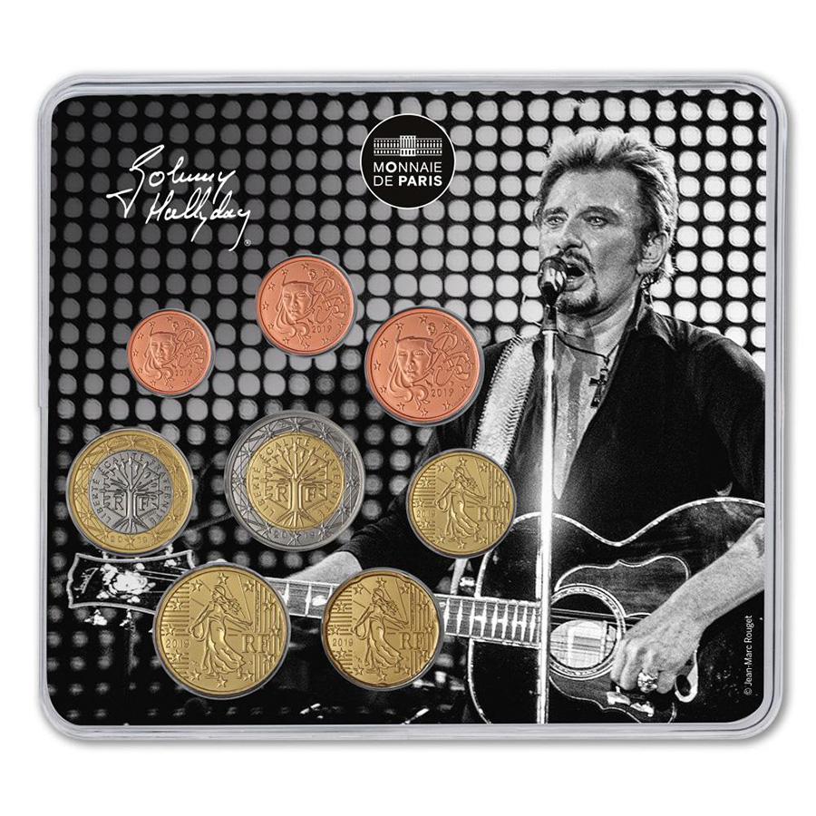 JOHNNY HALLYDAY - Hommage de la monnaie de Paris - Médaille et mini médailles
