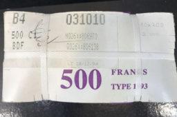 Résultat de la vente exceptionnelle de liasses de Billets de la Banque de France