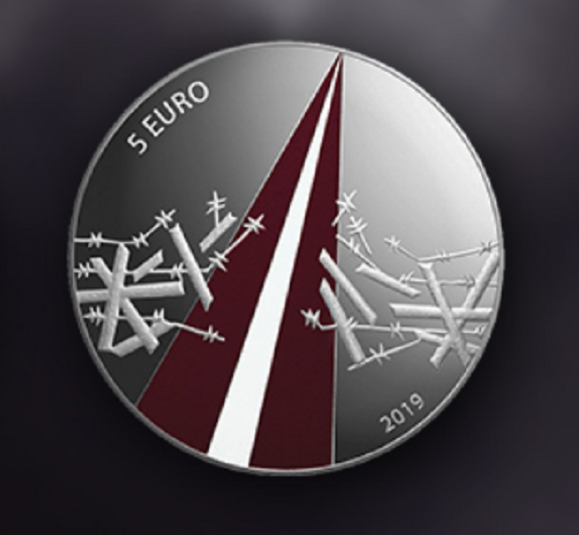 Monnaie lettone de 5€ commémorant la guerre de Libération (1918-1920)