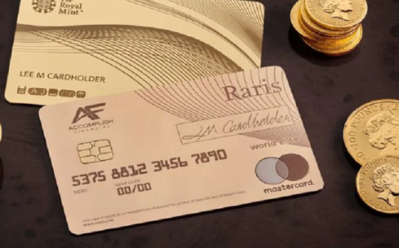 La Royal Mint lance une carte de crédit en or 18 carats