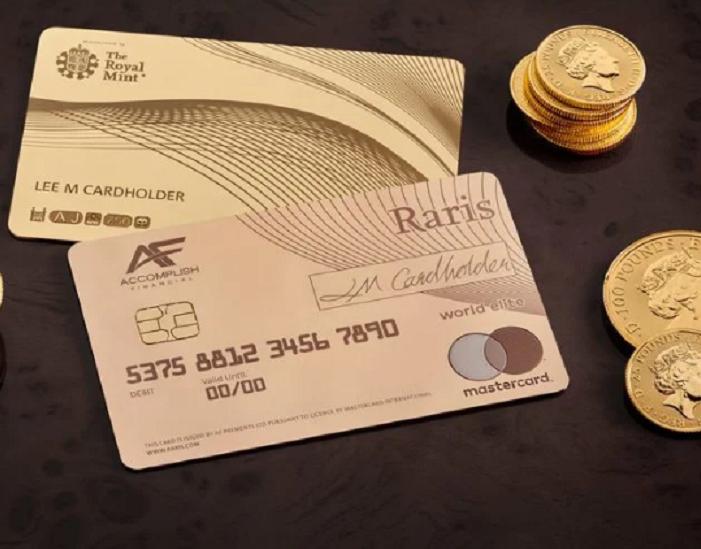 La Royal Mint lance une carte de crédit en or 18 carats