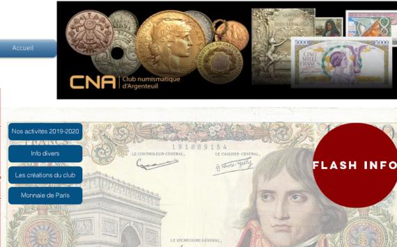 Exposition numismatique du CNA 2019, maintenant en ligne!