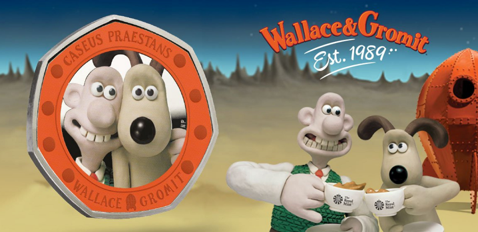 30 years of Wallace & Gromit celebrated by Royal Mint