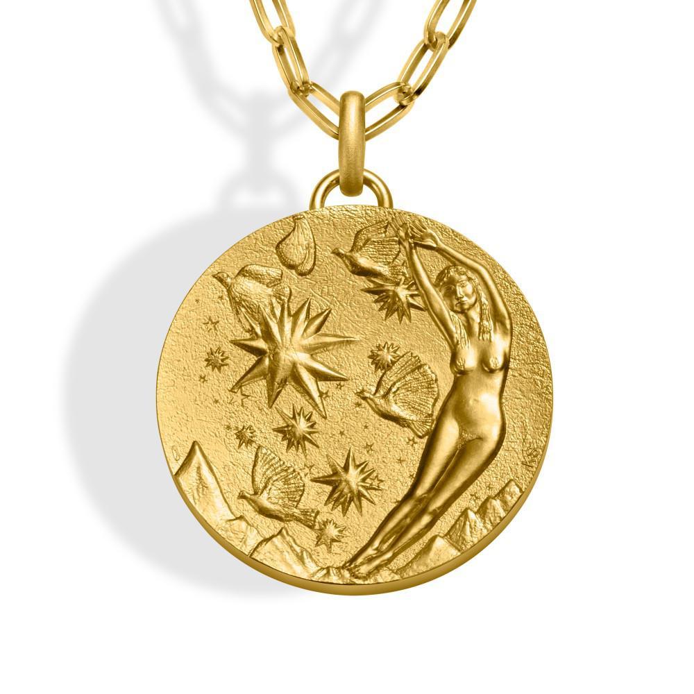 Kiki Smith, médaille sautoir, Ciel - Monnaie de Paris 2019