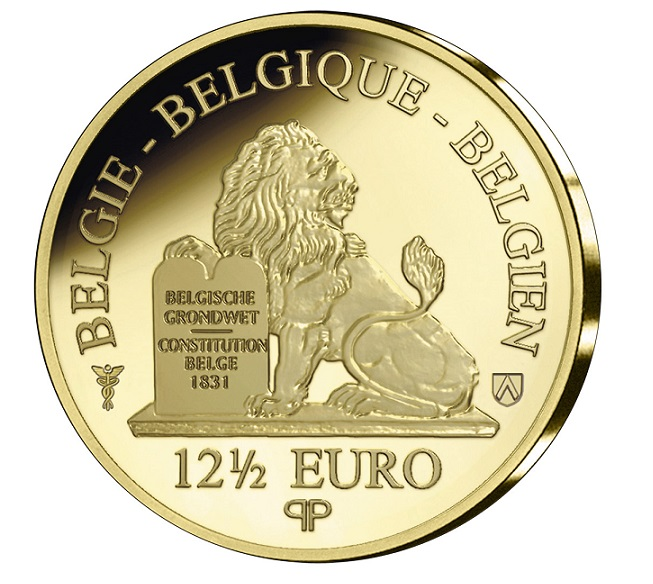2019 belgian gold coin commemorating the fall of Berlin Wall