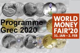 Programme numismatique grec 2020