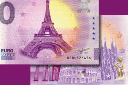 Zero euro banknotes collection changes to celebrate its 5th birthday