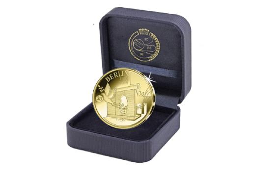 12,5€ en or belge 2019 – 30ème anniversaire de la chute du mur de Berlin