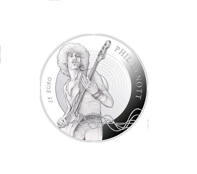 15€ argent irlandaise dédiée au musicien Phil LYNOTT