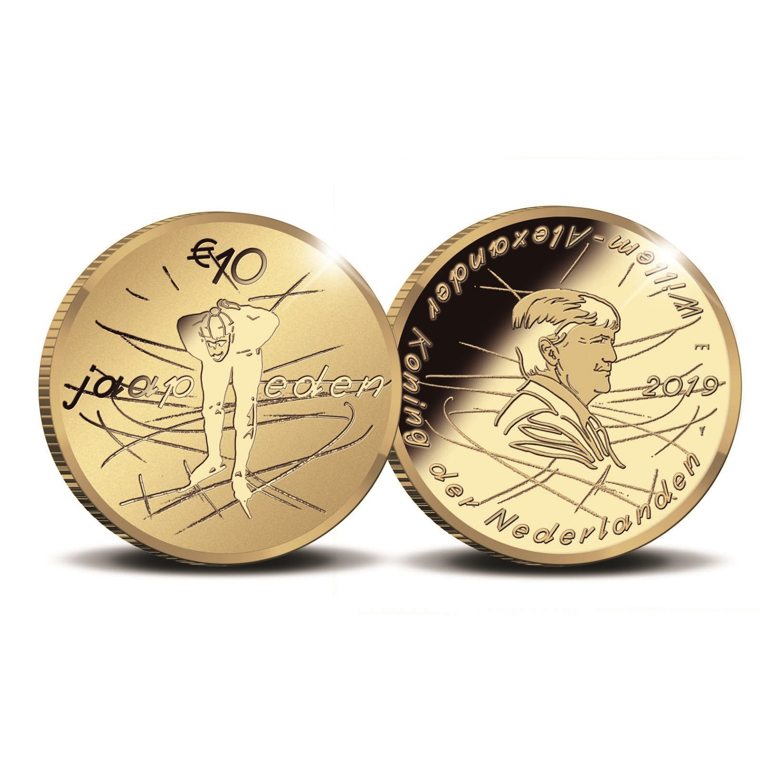 2019 Jaap EDEN commemorative coins from the Netherlands