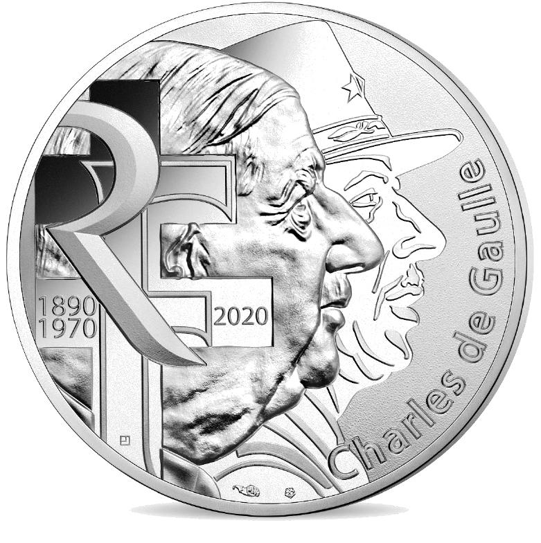 10 euros et 100 euros argent CHARLES DE GAULLE - Monnaie de Paris 2019
