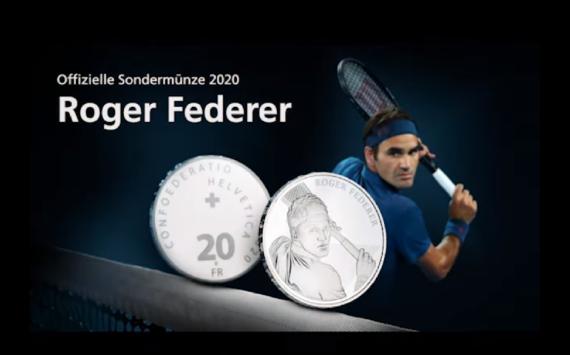 "Swissmint issues a 20 francs commemorative coin ""Roger Federer"""