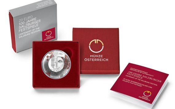 "2020 Austrian €20 SILVER COIN ""CENTENARY OF THE SALZBURG FESTIVAL"""
