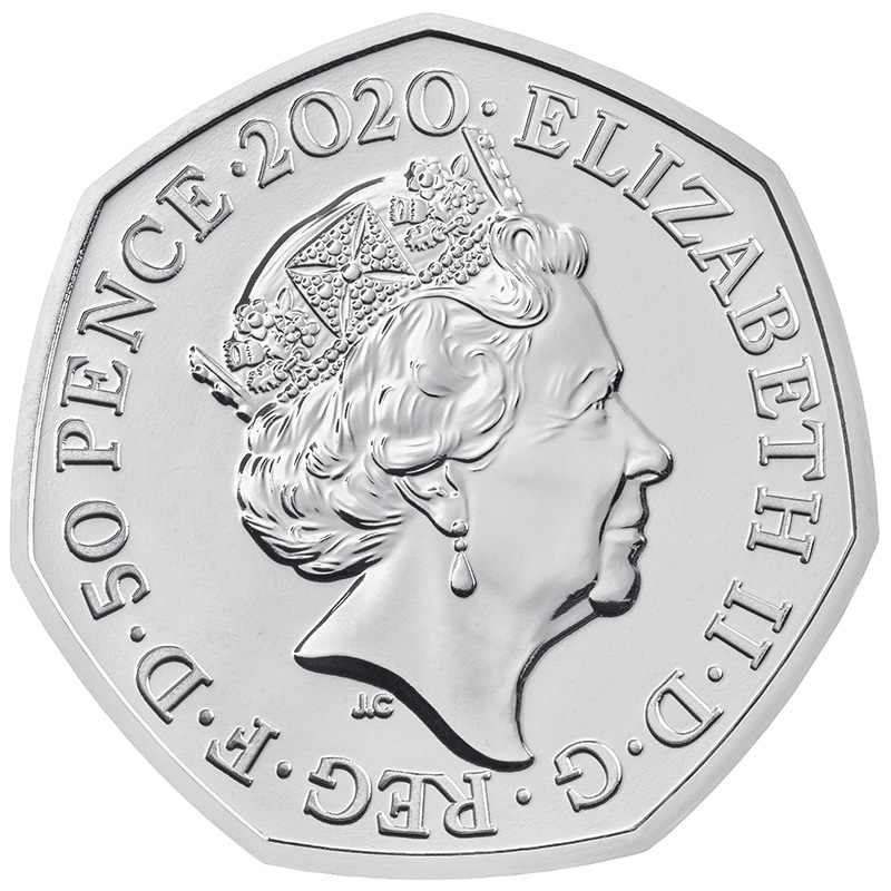 2020 UK 50p Brilliant Uncirculated Brexit coin packaging