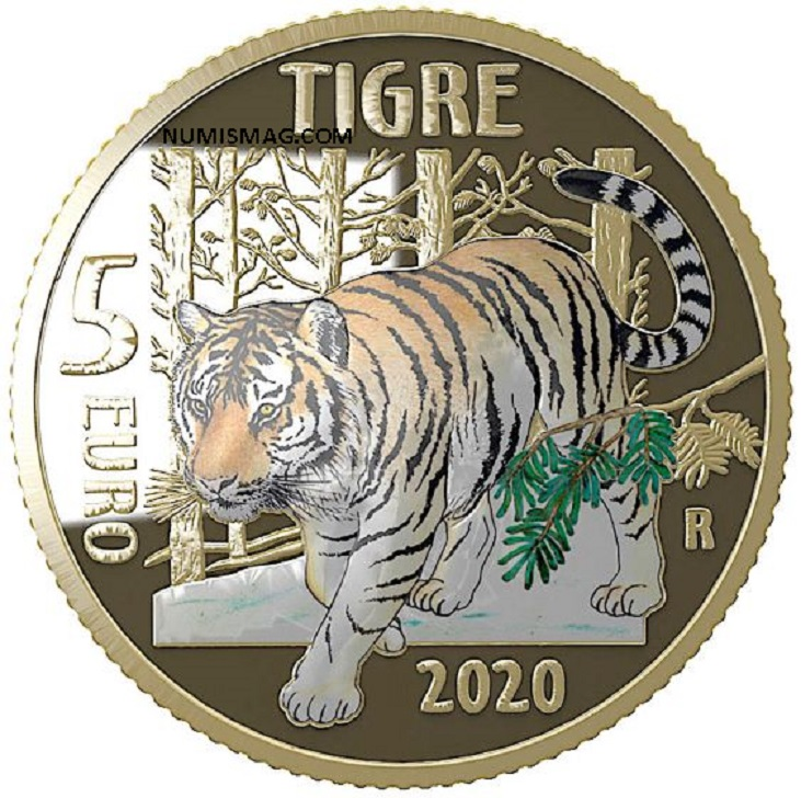 2020 italian numismatic program: put a tiger in your coin collection!