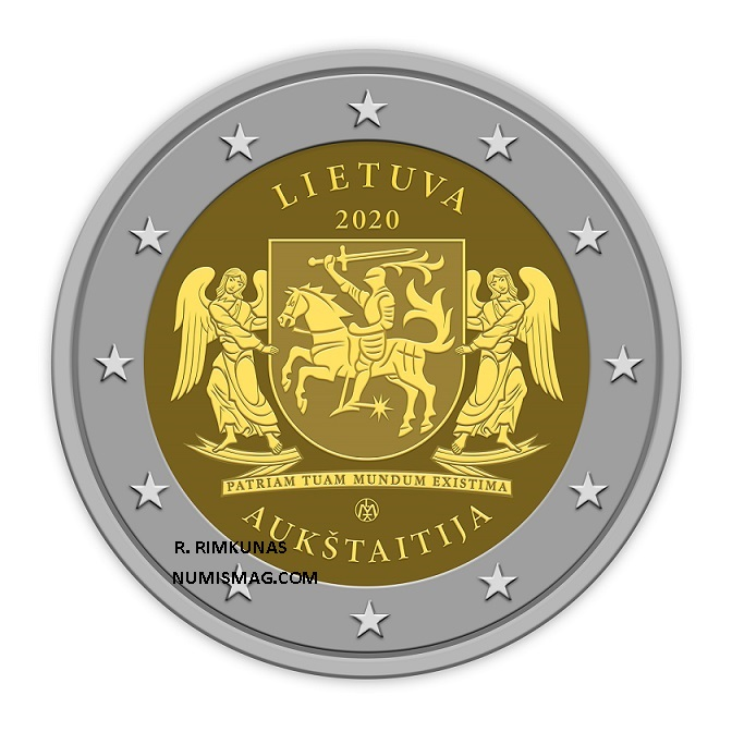 Rolandas RIMKUNAS, creator of €2 lithuanian regions coins series