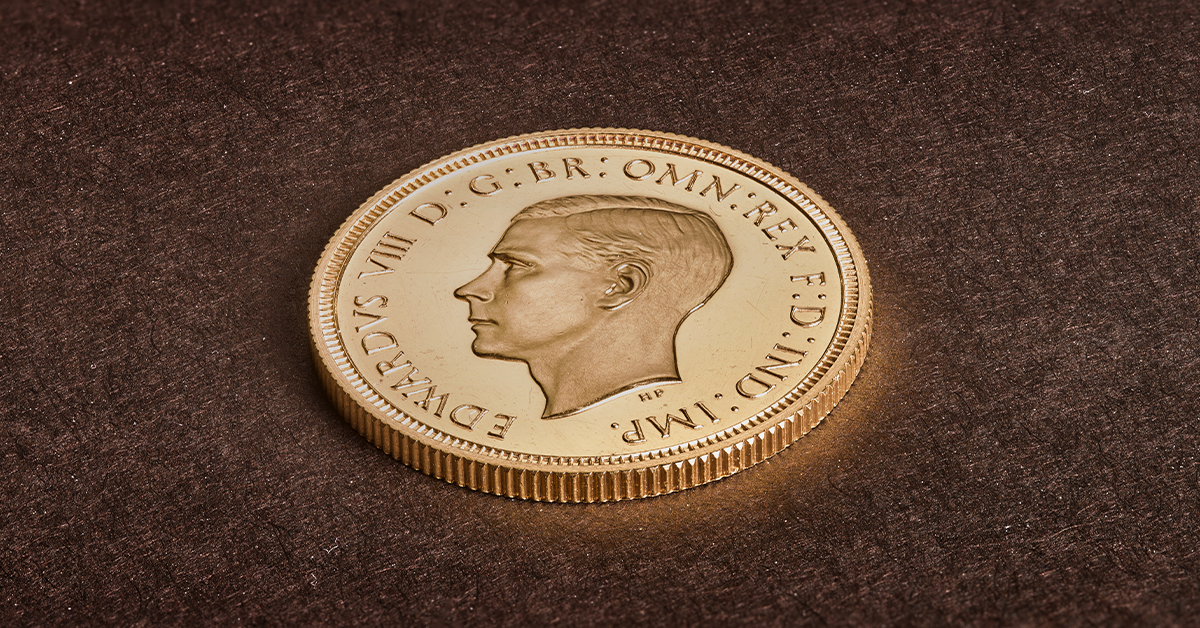 The Royal Mint sells a rare Edward VIII Sovereign for £1 million pounds!
