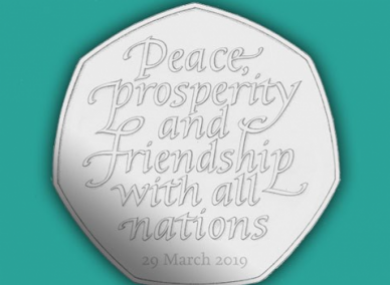 The third version of the Brexit coin soon-to-be-scrapped?