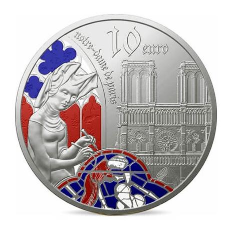 10 euros ArgentBE - l'âge du Gothique,Notre-Dame de Paris - Monnaie de Paris