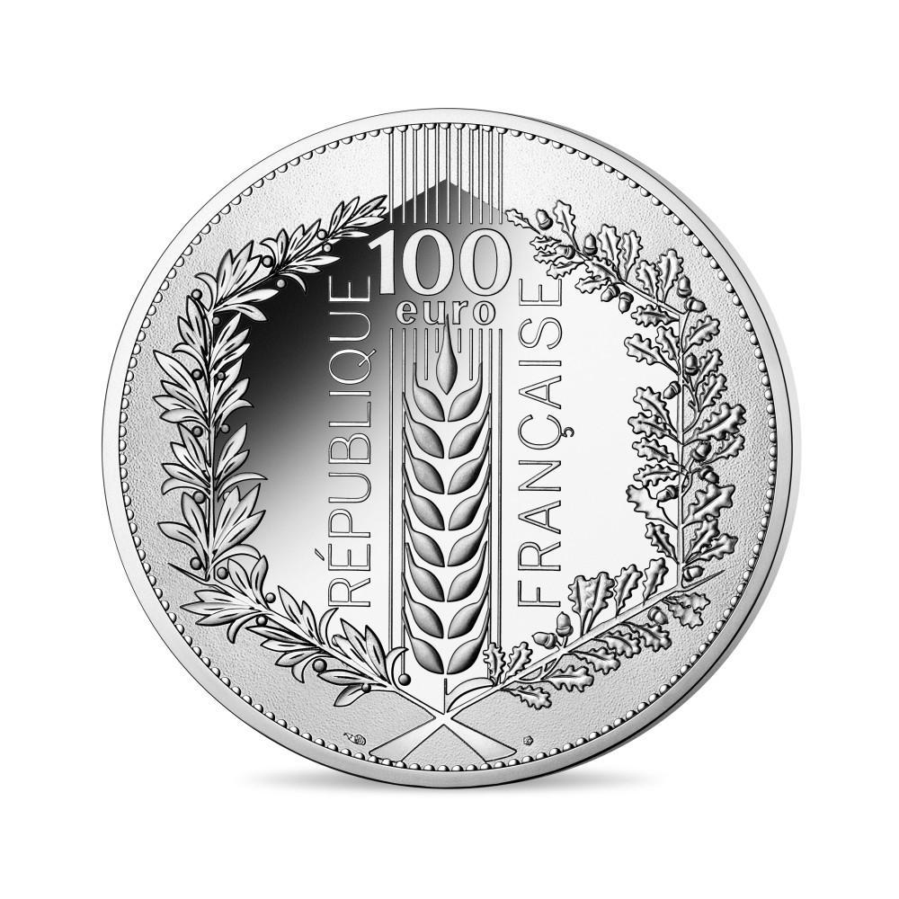 Série Nature de France - Monnaies de 20 et 100 € argent et 250€ Or, La feuille de chêne 2020