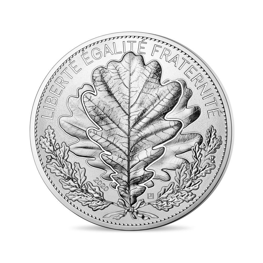 Série Nature de France - Monnaies de 20 et 100 € argent et 250€ Or, La feuille de chêne