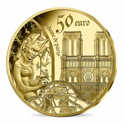 50 euros Or 1/4oz BE - l'âge du Gothique,Notre-Dame de Paris série EUROPA STAR 2020