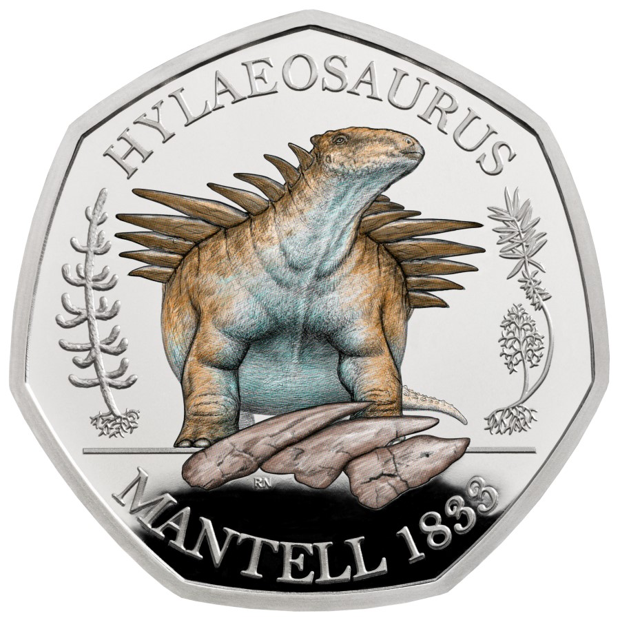 2020 british 50 pence dinosaur series: The Megalosaurus