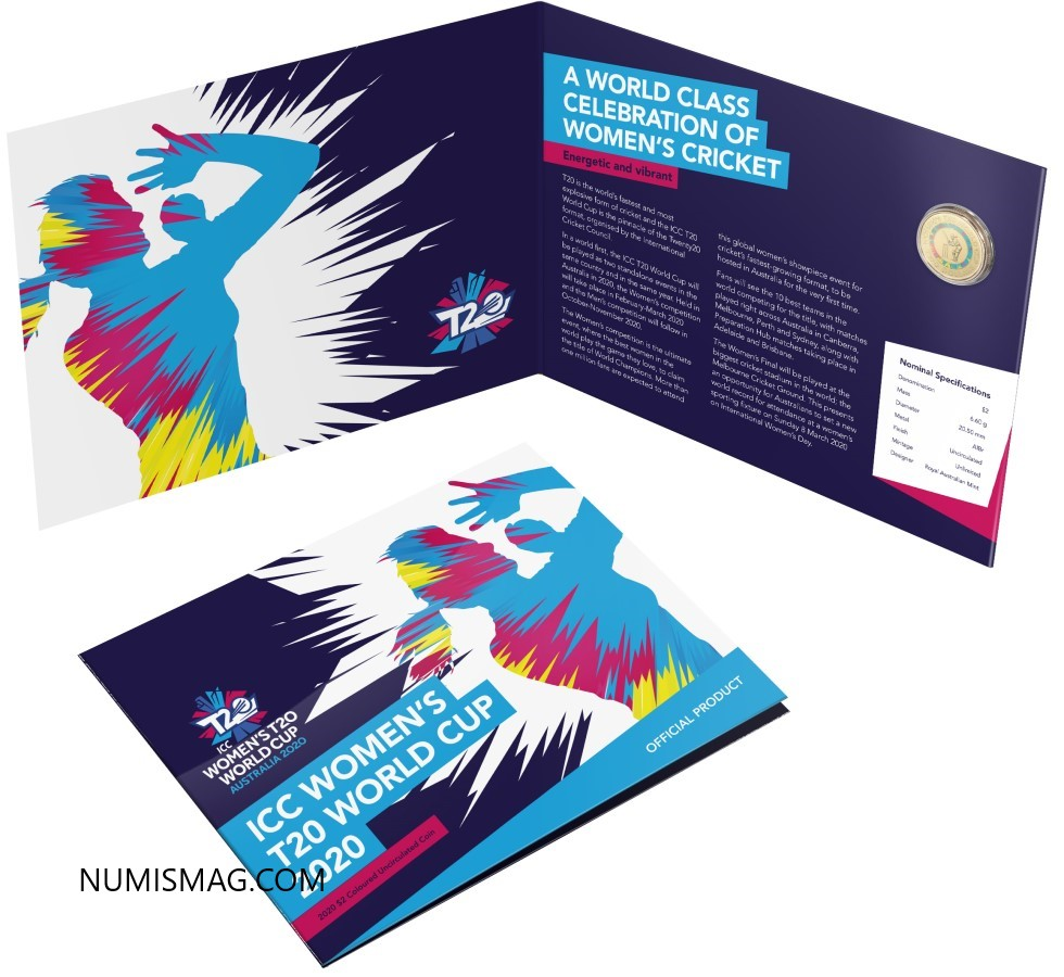 2020 australian ICC Women's T20 World Cup $2 coin
