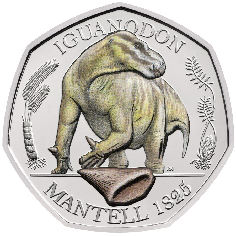 2020 british 50 pence dinosaur series: The Megalosaurus
