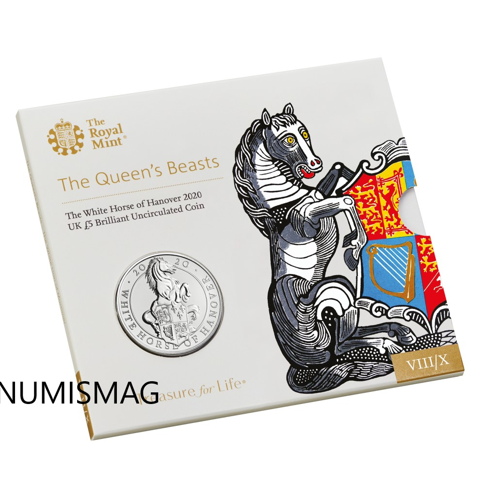 The white Horse of Hanover, the last Queen's Beasts series collection's coin