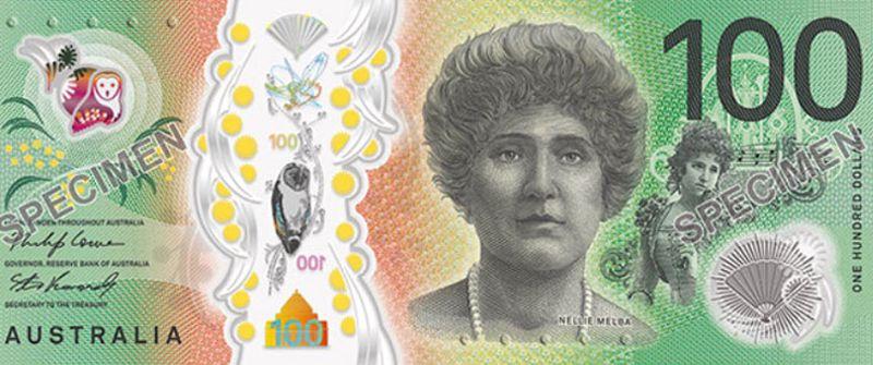 Nellie MELBA donne de la voix sur le nouveau billet australien de 100 AUD!
