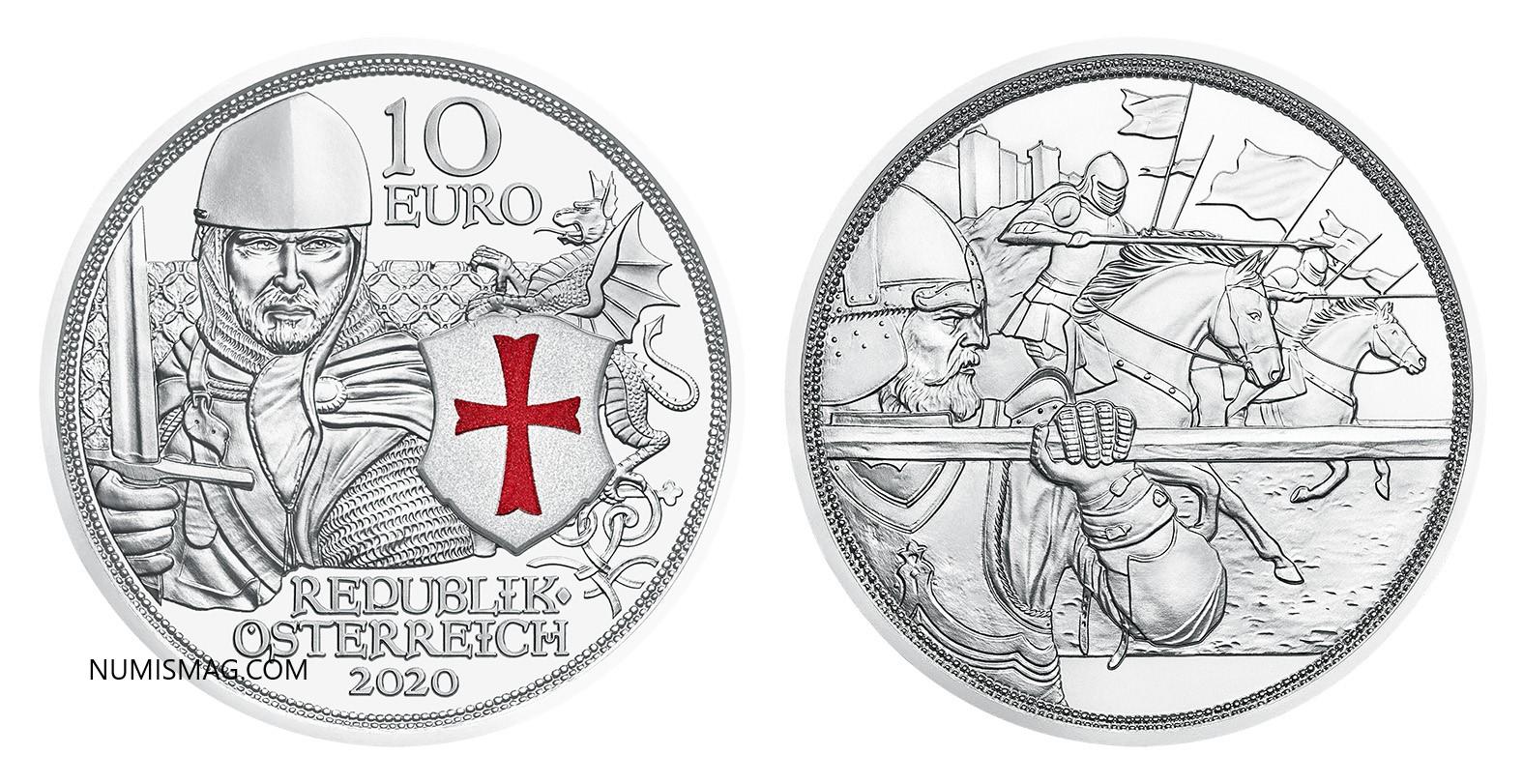 2020 Austrian Knights' Tales €10 coin