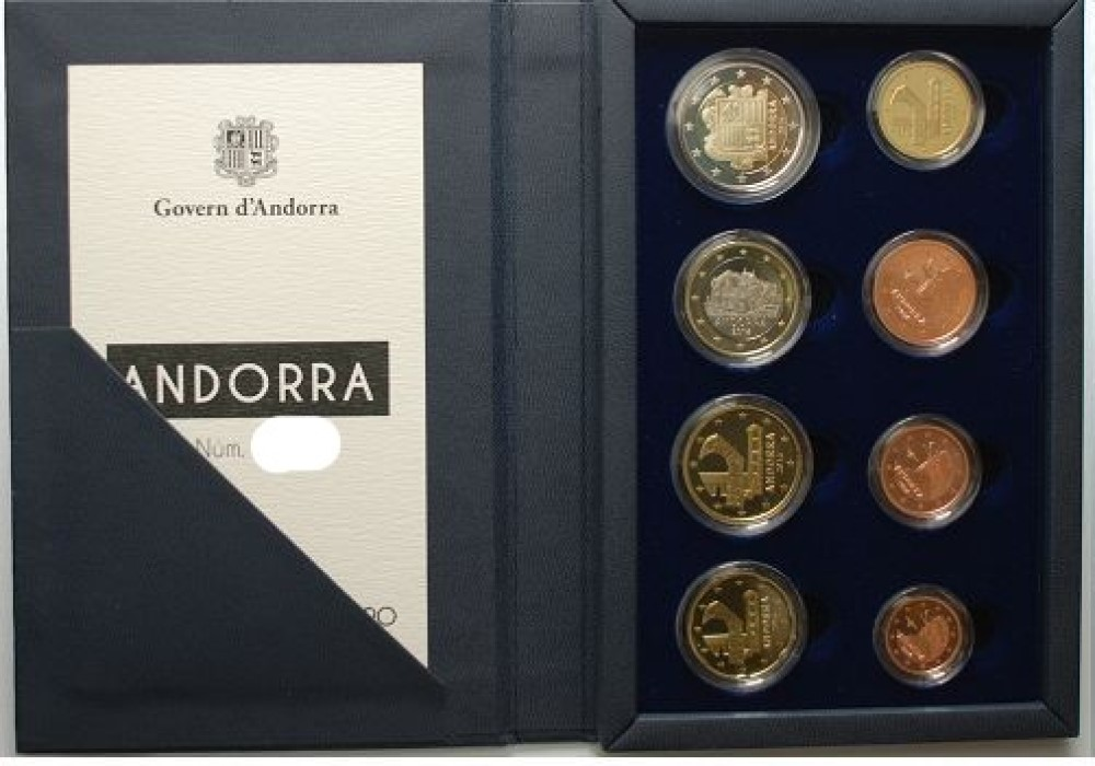 Valeur des euros d'Andorre émis depuis 2014