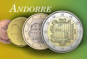 Valeurs et tirages des pièces euros d'Andorre – Pièces de circulation et commémorative depuis 2014