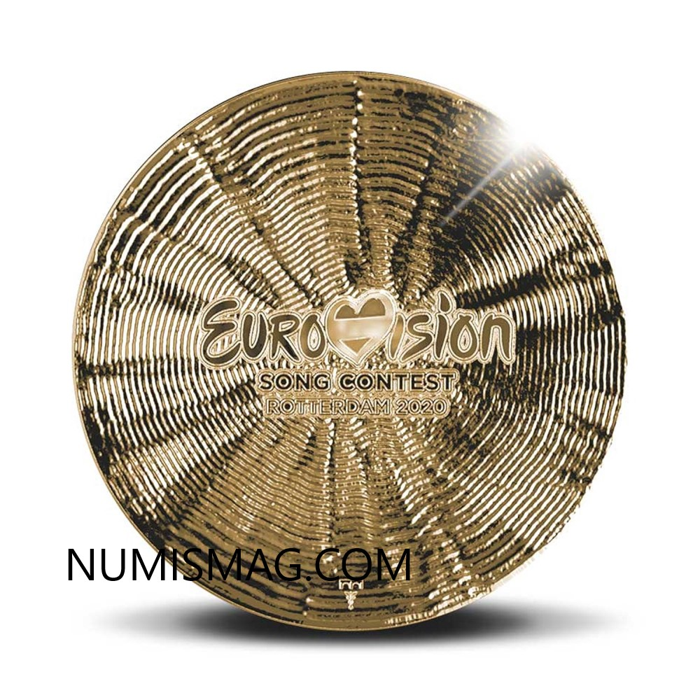 In 2020, Netherlands celebrate Eurovision song contest with a coin!
