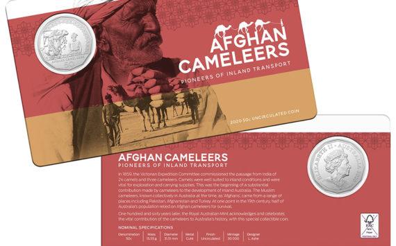 L'Australian Mint célèbre les chameliers afghans avec une pièce de 50 cents